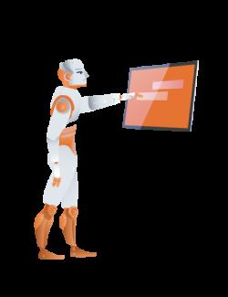 Man-Robot-Screen